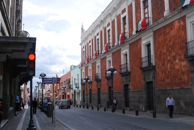 Streets of Puebla Mexico
